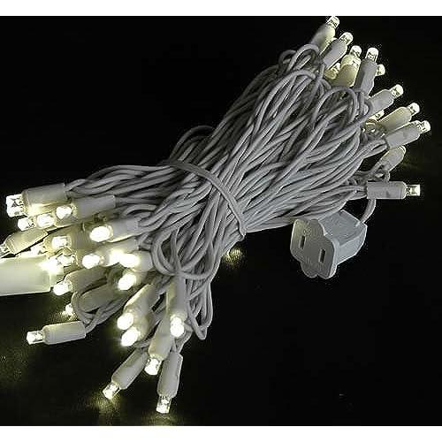 White Wire LED Christmas Lights: Amazon.com