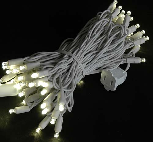 Novelty Lights 50 Light LED Twinkle Christmas LED Mini Light Set, Outdoor Fairy Wedding String Lights, Warm White, White White, 25 Feet