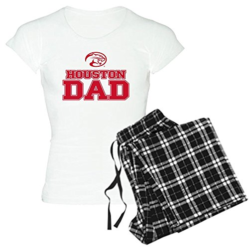 CafePress Houston Cougars Dad Pajamas Womens Novelty Cotton Pajama Set, Comfortable PJ Sleepwear (Mascot Houston Pants)