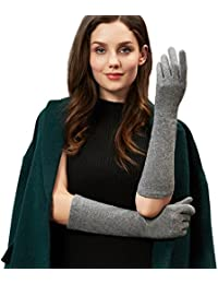 Ladies Gifts Touchscreen Warm Wool Arm Warmers Costume Long Sleeve Knit Gloves Mittens Womens Evening Dress Texting Wedding Apparel Mink Coat Accessory