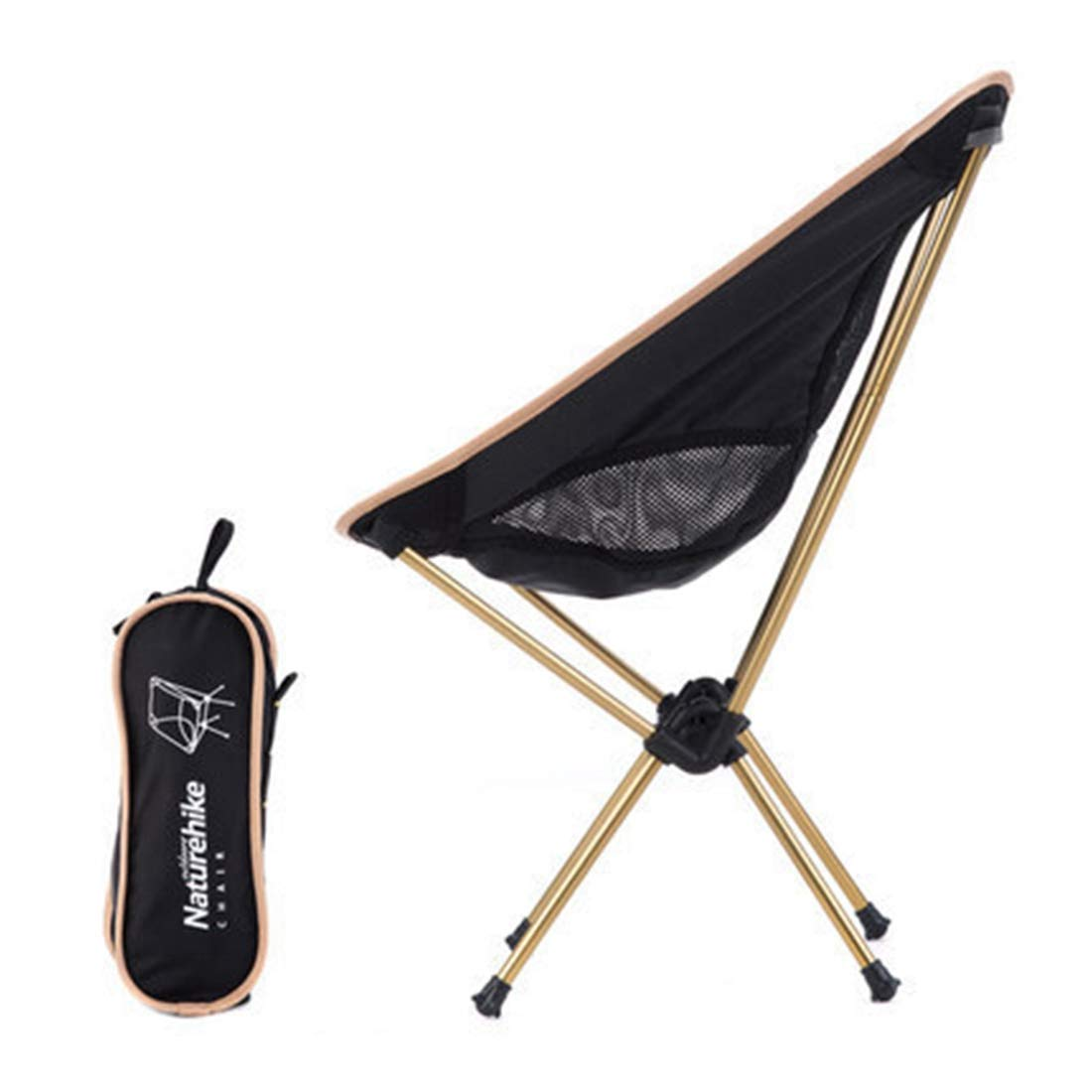 WEATLY Outdoor-Stuhl Faltbarer kompakter Stuhl Ultra-leichte Belastbarkeit 90kg Mit Spezialfall Angeln Klettern Mobile bequemes Lager BBQ einfache Lagerung