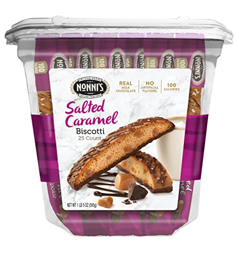 Nonni's Biscotti Value Pack, Salted Caramel, 25 Count, 1 lb 5 oz (595g)