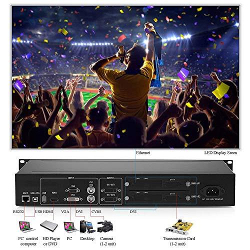 HDMI LED Display Video Wall Processor (2019 Version) HD TV Max Load of 1920 × 1200 60Hz Video Wall Controller Matrix Controller Splicer Splitter Display
