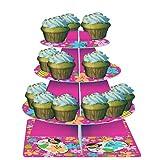 Pink Luau Fun Tiered Cupcake Stand 8 Ct