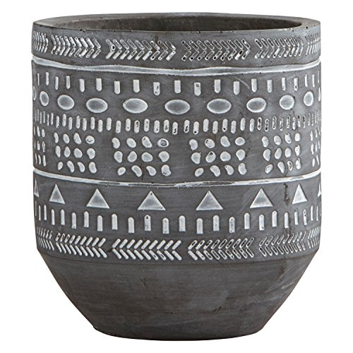 Medium Planter - Rivet Modern Concrete Planter With Painted Accents, 6