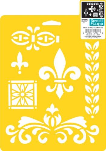 Delta Creative Stencil Mania Stencil, 7 by 10-Inch, 970610710 Decor Accents