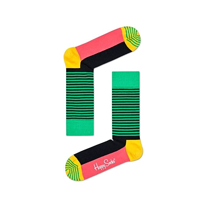Calcetines Happy Socks Raya Mitad Hombres, Verde/Jamaica Un Tamaño