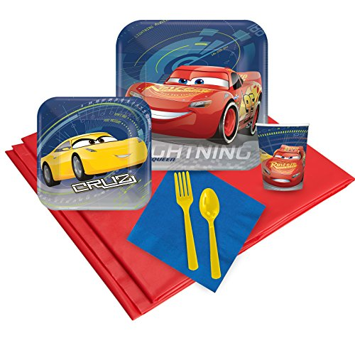 BirthdayExpress Disney Cars 3 16 Guest Party Pack ()