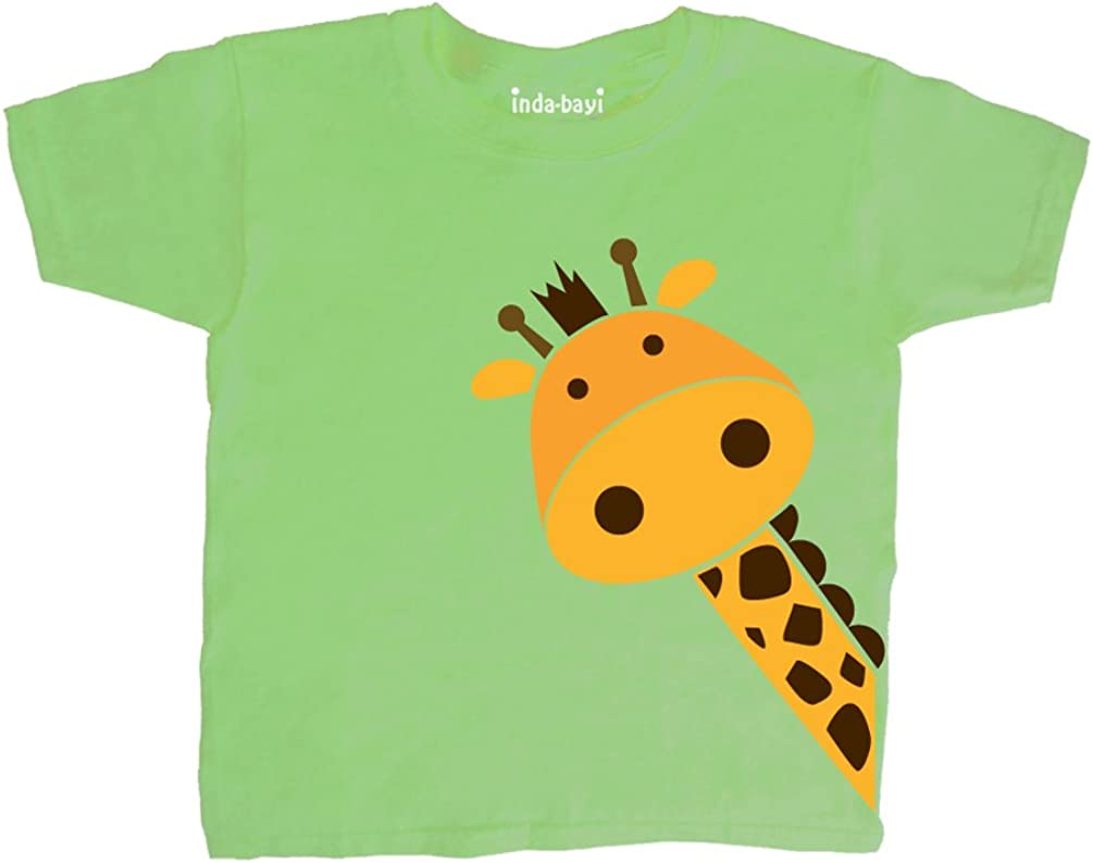 Inda-Bayi Baby-Toddler-Kids Cotton T Shirt Giraffe