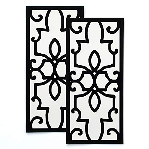 Magnetic Vent Cover for Floor Register or Air Vent with Decorative Design - Pack of 2 (12 in x 5 1/2 in) Vent Covers for Your Home, RV, HVAC, AC, and Furnace Vents (Not for Ceiling)