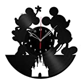 Disney Mickey Mouse Clock Record Wall Clock Fan Art Handmade Decor Unique Decorative Vinyl Clock12″ (30 cm) #2