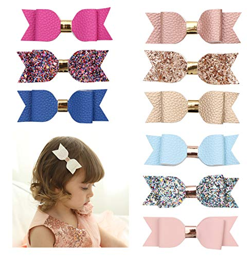Xinshi Cute Cat Ear Hair Clips Bears Ear Barrettes Bow for Baby Girl Toddlers Kids (hairpin 9pcs)