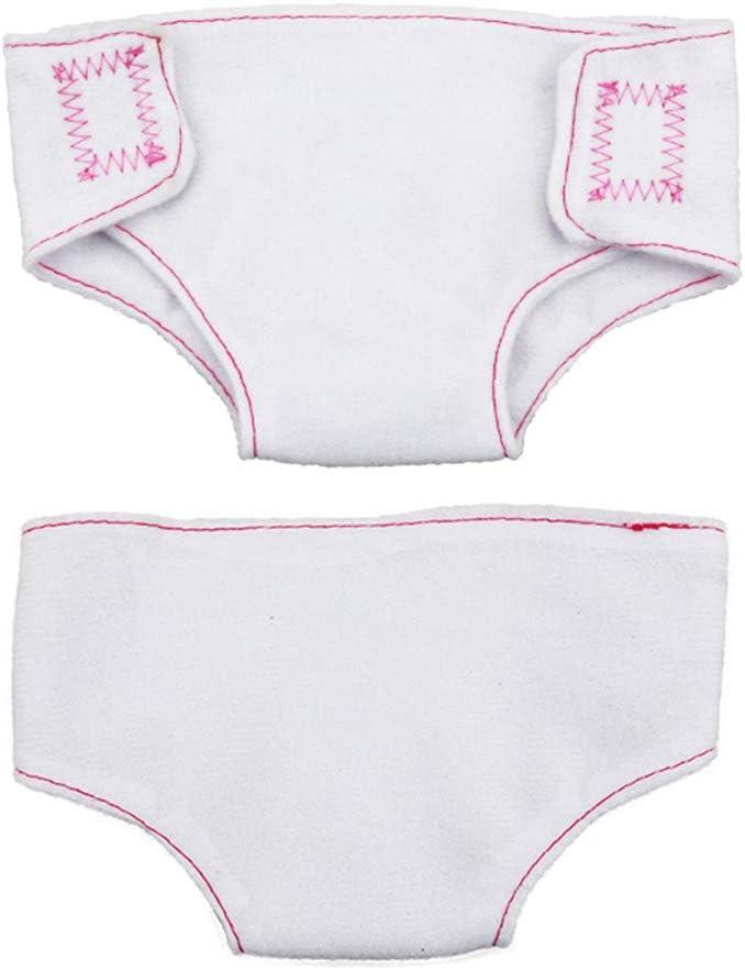 Oraunent 4pcs Poup/ée et Tissu Nappe pour Poup/ées Ajustable Pantalon De Couche sous-v/êtements