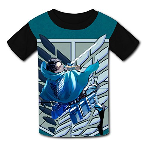 Price comparison product image Attack Titan Children 3D Graphic Printed Novelty Short Sleeve T-shirts Boys Tee Shirt Tops S