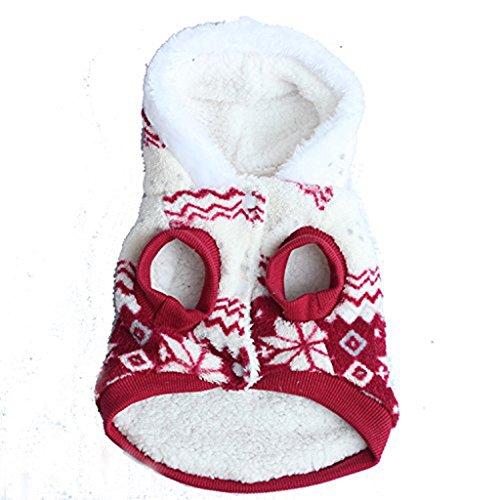 Ropa para Mascotas, Cachorro De Alto Grado Copo De Nieve De Dos Colores De Algodón Y Abrigo De Invierno (Color : A, Tamaño : S)