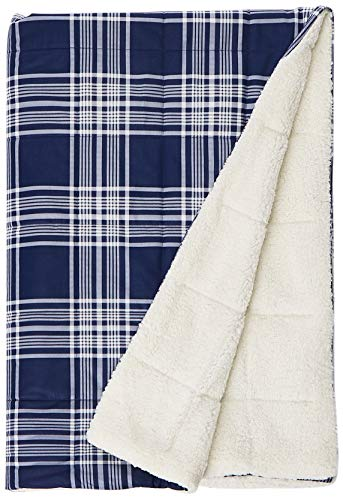 (Woolrich Leeds Luxury Softspun Down Alternative Oversized Throw Navy 50x70   Plaid Premium Soft Cozy Cozy Spun For Bed, Couch or Sofa)