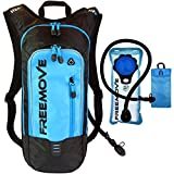 Hydration Pack Backpack with 2L Water Bladder & Cooler Bag - Keeps Your Drinks Cool - Unique Design, Lightweight & Comfy, Air Flow System, Leak Proof, 6L Capacity - Ideal For All Sports Enthusiast