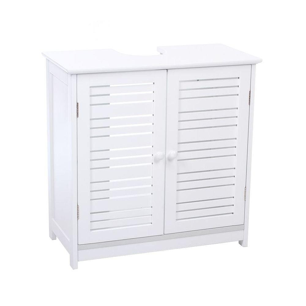 Mobile sotto-lavabo/lavandino, in legno MDF, medio, colore: bianco INSTANT D O
