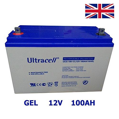 Battery Waterproof Gel Deep Cycle Battery 100Ah 12V Solar Energy