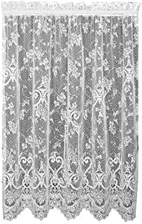 product image for Heritage Lace English Ivy 60-Inch Wide by 63-Inch Drop Panel, White