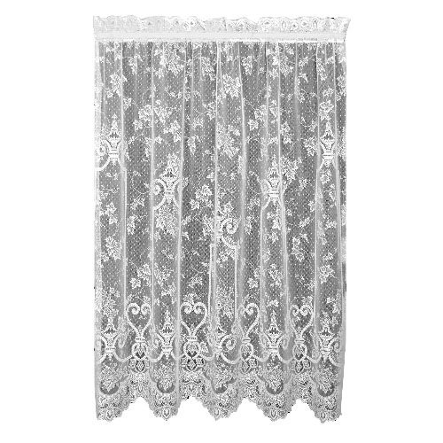 (Heritage Lace English Ivy 60-Inch Wide by 63-Inch Drop Panel, White )