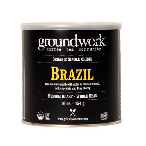 Groundwork Coffee, Organic Brazil, Whole - Estate Dark Rum Shopping Results