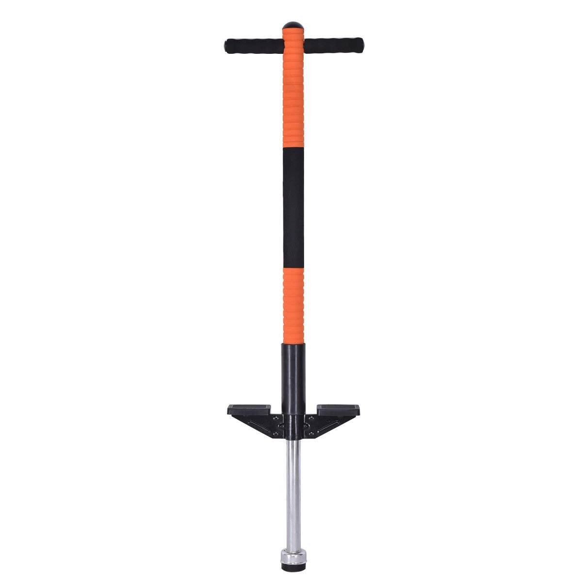 Goplus Pogo Stick Jumping Stick Jumper for Age 5 to 9 Up to 85lbs Perfect Kids Gift for Balance Training (Orange)