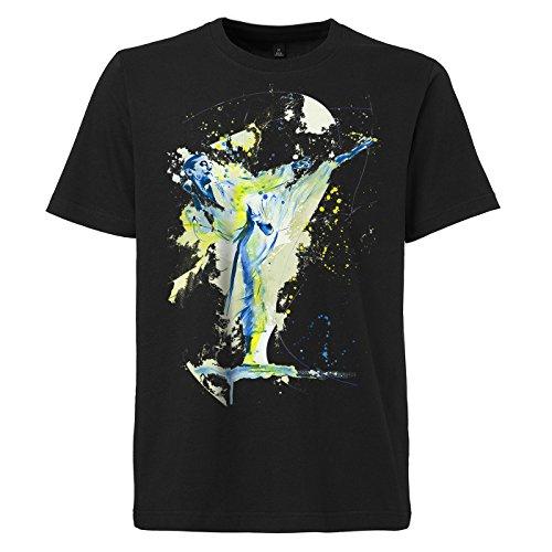 Karate_IV schwarzes modernes Herren T-Shirt mit stylischen Aufdruck