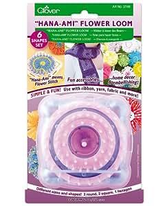 """""""Hana-Ami"""" Flower Loom 6 Shape Set, Pink/Blue"""