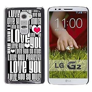 Dragon Case - FOR LG G2 - Don??t ?Losing yourself - Caja protectora de pl??stico duro de la cubierta Dise?¡Ào Slim Fit