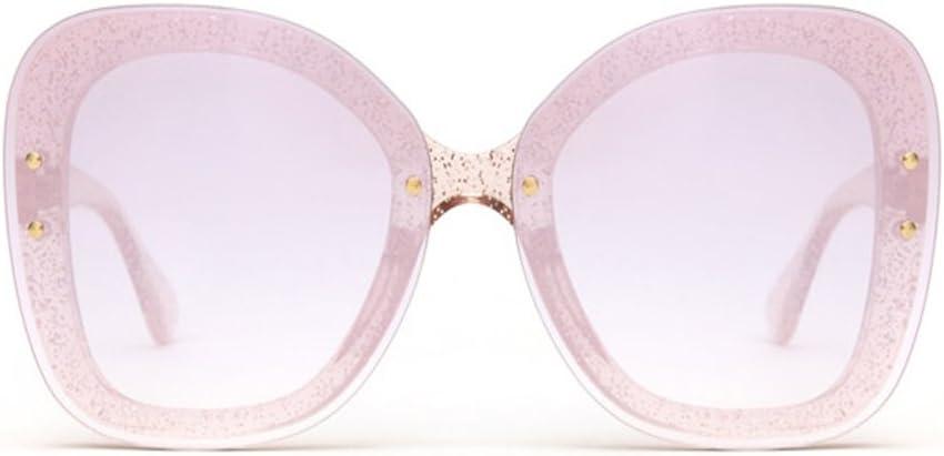 NUBAO Gafas de sol sin marco para el aire libre, para mujer, redondas, transparentes, gradientes, espejo, espejo, espejo, para conducción, gafas de sol fuera de viaje, playa, obligatorias.