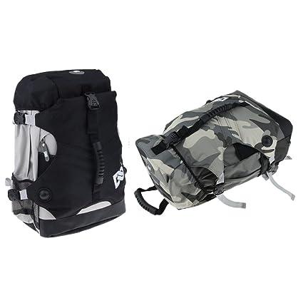 cc85f54cc5b0 Baosity 2pcs Quad Roller Skate Bag Shoulder Backpack Skates Shoes ...