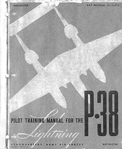 (Lockheed P-38 Lightning Pilot Training Manual)