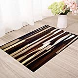 GHGMM Simple Wood Floor Mat, Doorway Kitchen Living Room Balcony Bedroom Carpet, Waterproof Non-Slip Mat, Do Not Fade No Lint,D,40120CM