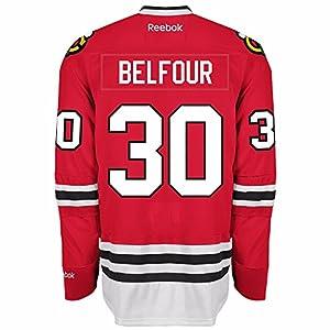 Ed Belfour Chicago Blackhawks Reebok Premier Home Jersey NHL Replica