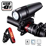 Bike Light Set, Arespark Ultra Bright Rechargeable Bicycle Light Set, Powerful Lumens Bike