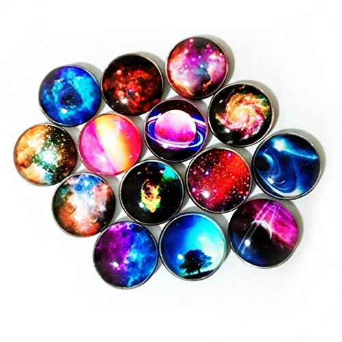 Fridge Magnets,Koolemon 14PCS Crystal Glass Refrigerator Magnets Funny Magnets for Refrigerator Office Cabinets Whiteboard Photo,Starry Sky Decorative (Funny Refrigerator)