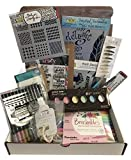 Dandy Bible Journaling Kit # BJK02 Includes Markers Watercolors Stencils Multiliner Stamps Washi Tape Brush Stickers and Acrylic Block