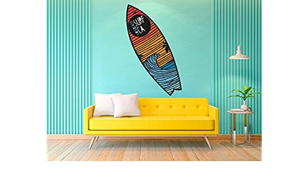 Figura Cartón Pluma Pared Tabla Shurf Long Beach Surf | Figura para paredes | Cartón Pluma Decorativo | Varias Medidas 140 x 42 cm | Decoración comedores, ...