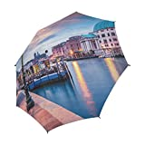 Unique Debora Custom Semi-Automatic Foldable Umbrella Windproof Polyester Travel Umbrella for Fantastic Venice With San Simeone Piccolo Church