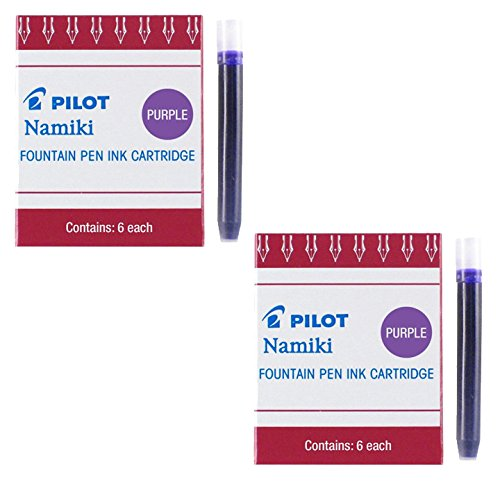 Pilot Namiki IC50 Fountain Pen Ink Cartridge, Purple 6/Pk (Total 12) - Pen Ink Cartridges Fountain 12