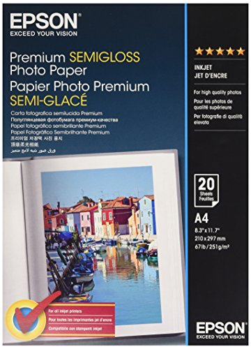 Epson Premium Semigloss Photo A4 Paper stylus color 200