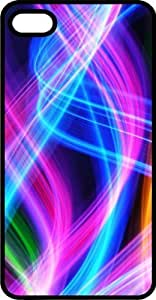 Abstract Neon Glowing Wisps Black Plastic Case for Apple iPhone 4 or iPhone 4s Kimberly Kurzendoerfer