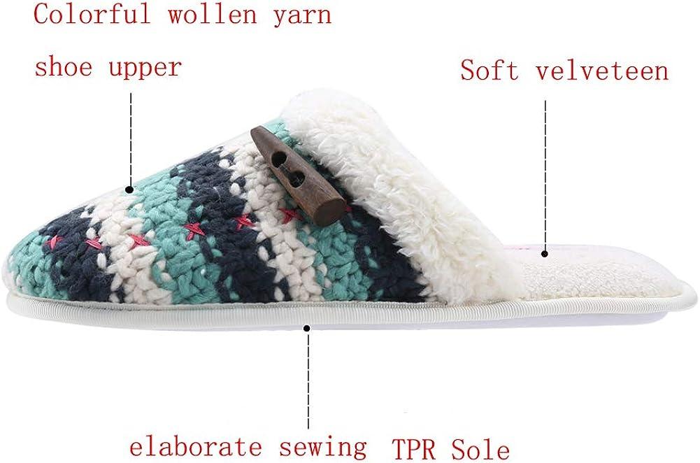 Women Slip-on Slippers Memory Foam Slippers Close Toe Home Slippers for Men