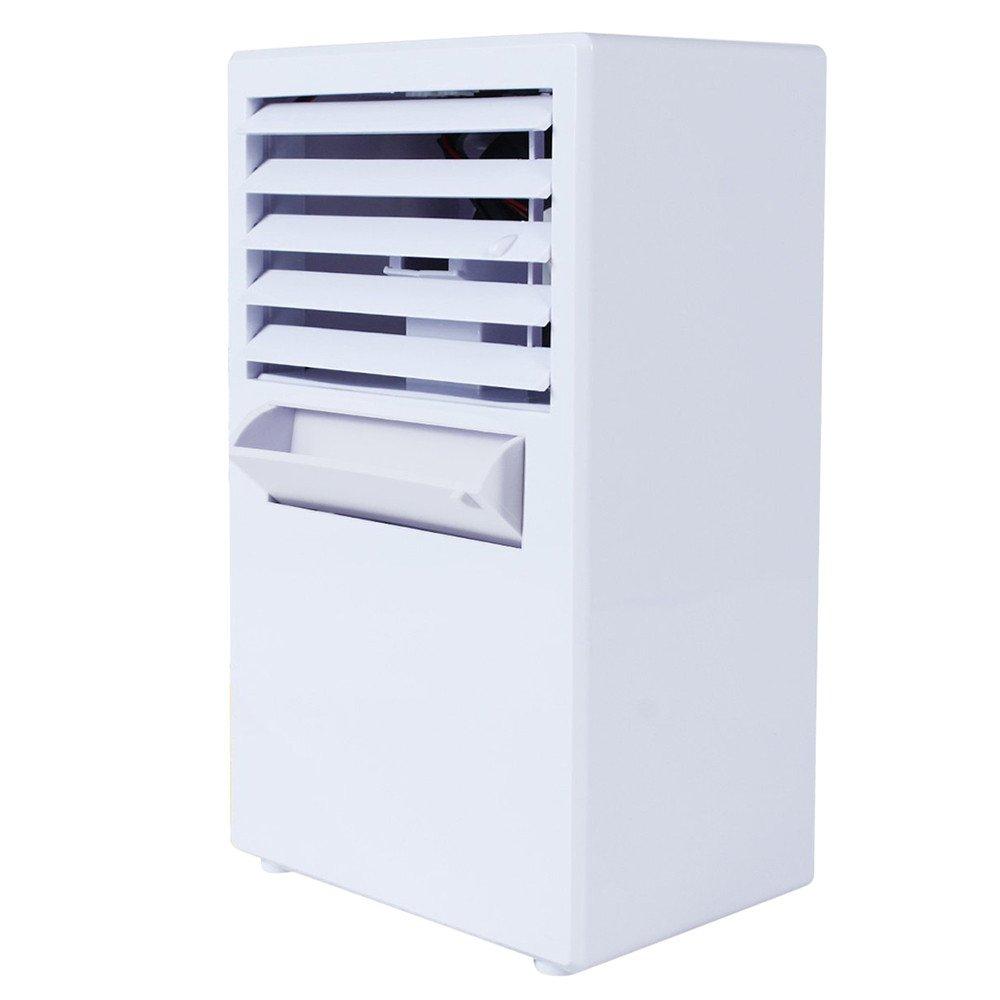 Personal Air Conditioner Fan OVERMAL Mini Evaporative Air Circulator Cooler Humidifier (WHITE)