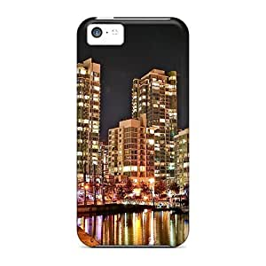 LauraKrasowski Fashion Protective Vancouver Waterfront At Night Cases Covers For Iphone 5c