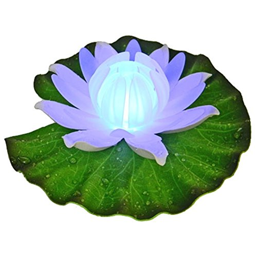 Acmee Color Changing LED Floating Lily Flower Light for Pool Pond