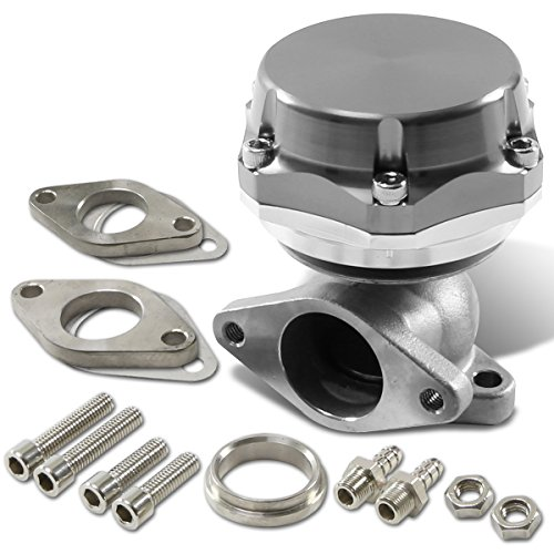 38mm Bolt-on 7/13/20 PSI External Turbo Exhaust Manifold Wastegate (Silver) (38 Mm Turbo Wastegate)