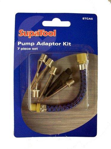 SupaTool Pumpen-Adapterset, 7-Teilig, Für Bälle, Luftmatratzen, Fahrradreifen