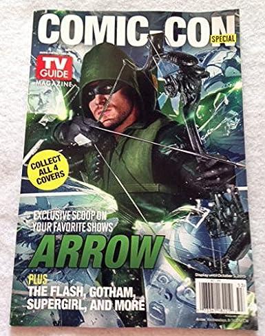 SDCC Comic Con 2015 EXCLUSIVE TV Guides Set of 4 ARROW FLASH SUPERGIRL GOTHAM